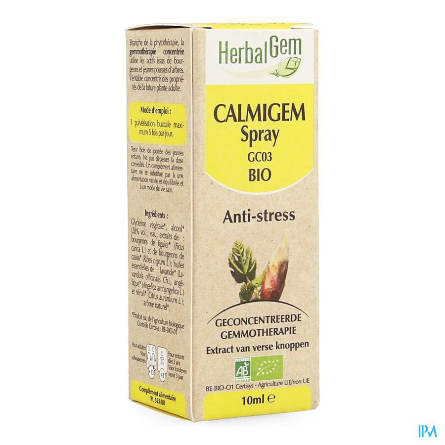 Herbalgem Calmigem Relaxerend Complex Spray 10 ml  -  Herbalgem