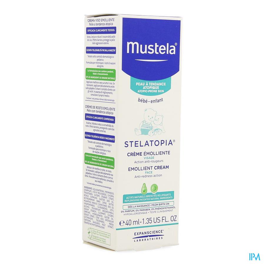 Mustela Pa Stelatopia Emollierende Cr Gezicht 40ml