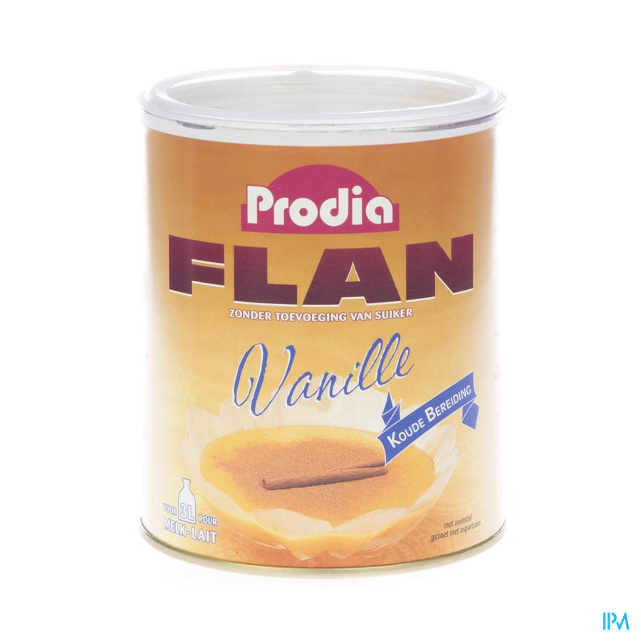 Prodia Flan Vanille + Zoetstof Pdr 450g 6785