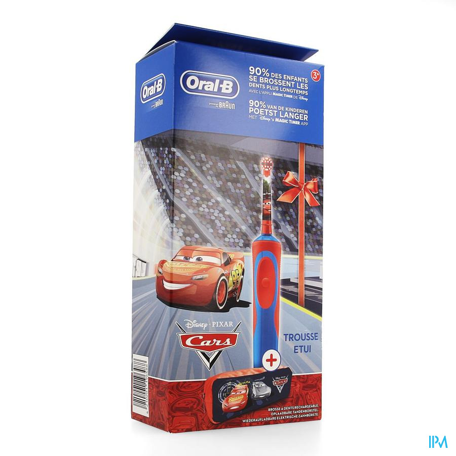 Oral B Brosse Vitality Kids Cars + Case
