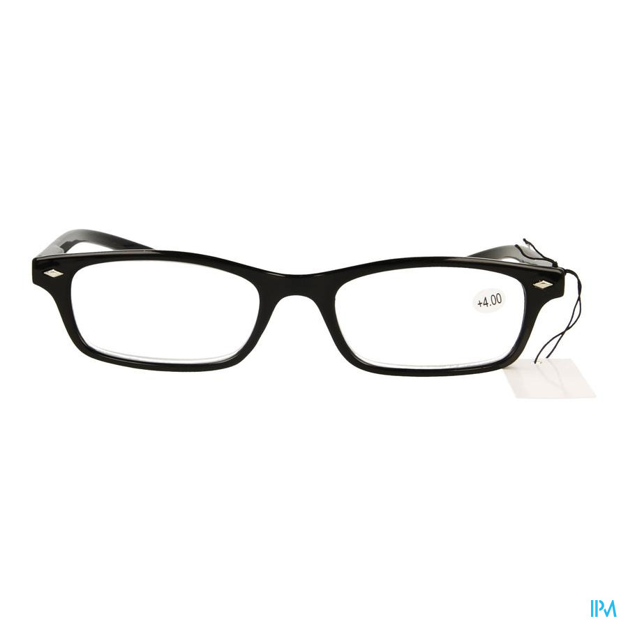 Pharmaglasses Leesbril Diop.+4.00 Black