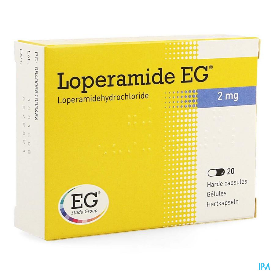 Loperamide Eg Caps 20x2mg