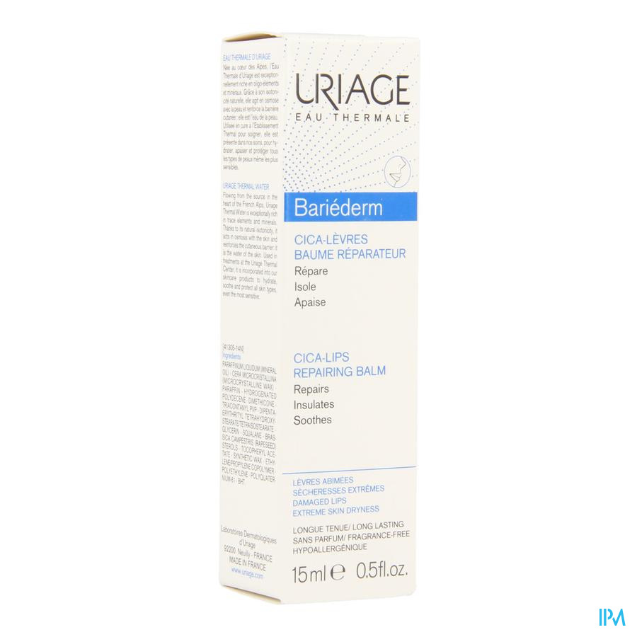 Uriage Bariederm Levres Baume Tube 15ml