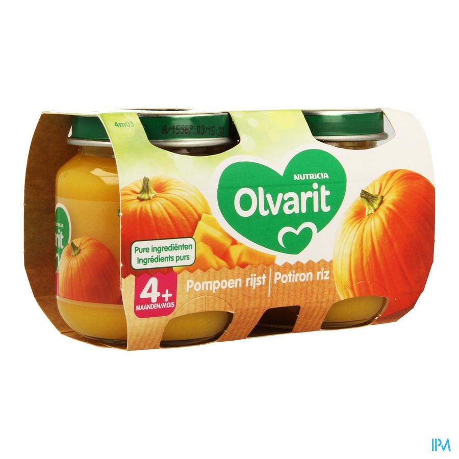 Olvarit Potiron Riz 2x125g 4m03