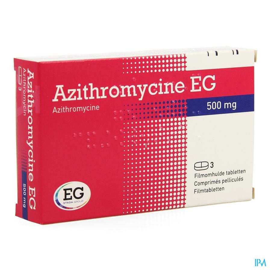 Azithromycine 500mg Eg Tabl Omhulde 3x500 mg