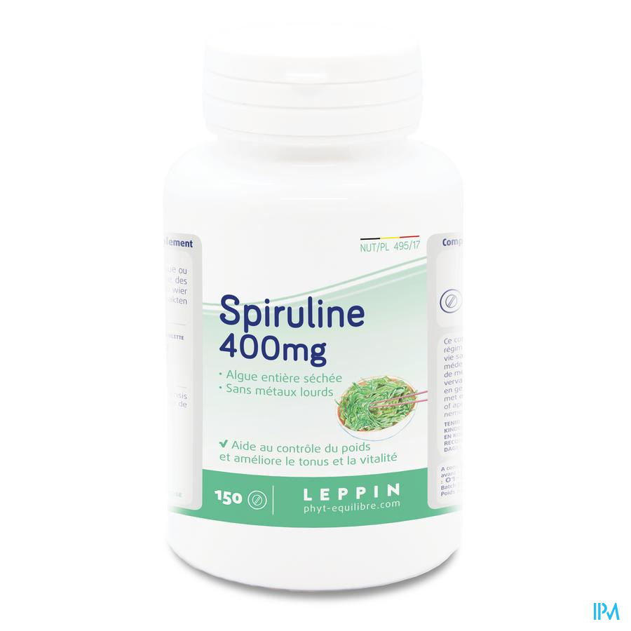 Leppin Spiruline Californie 400mg Comp 150