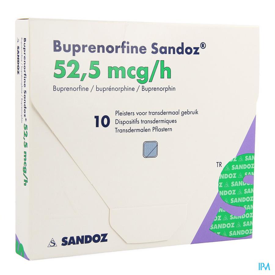Buprenorphine Sandoz 52,5mcg/u Pleist.transderm.10
