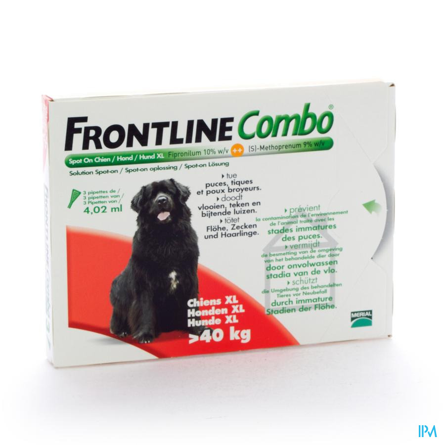 Frontline Combo Spot On Hond Pip 3x4,02ml >40kg
