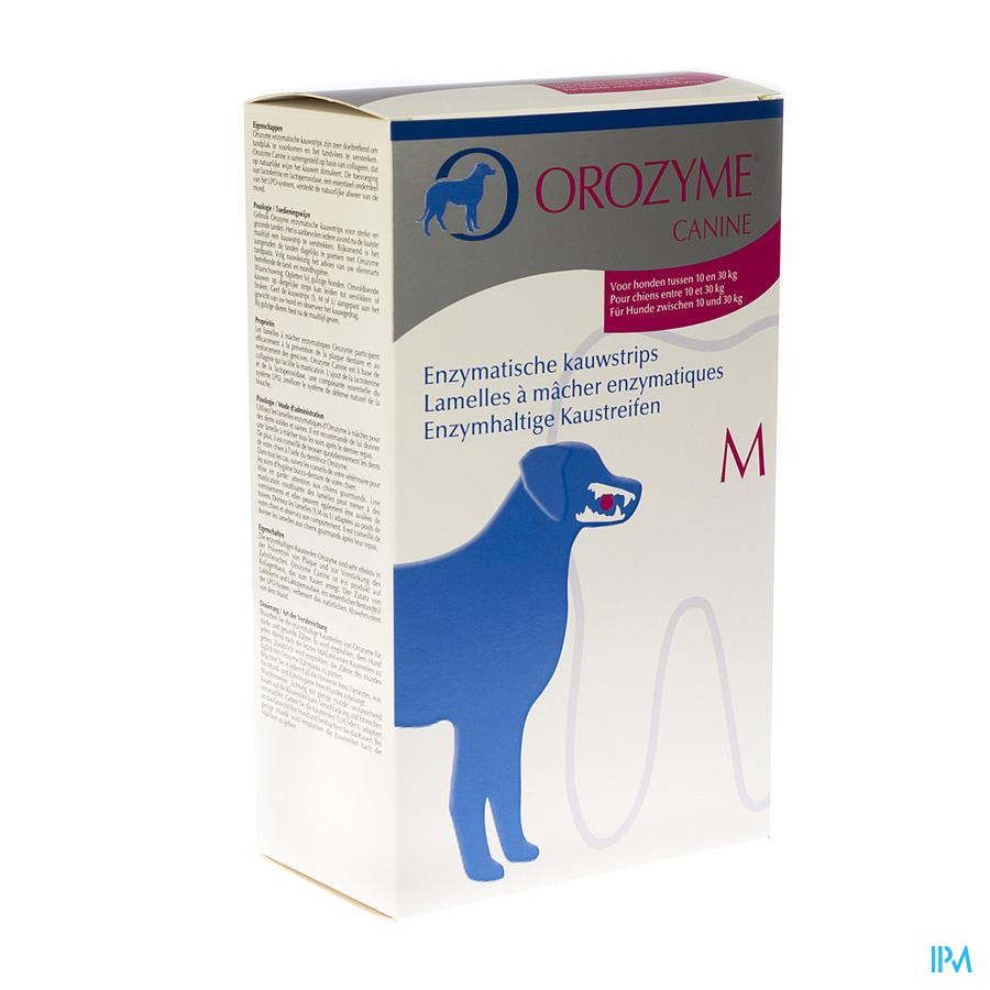 Orozyme Canine M Kauwstrip Enzym.hond 10-30kg 141g