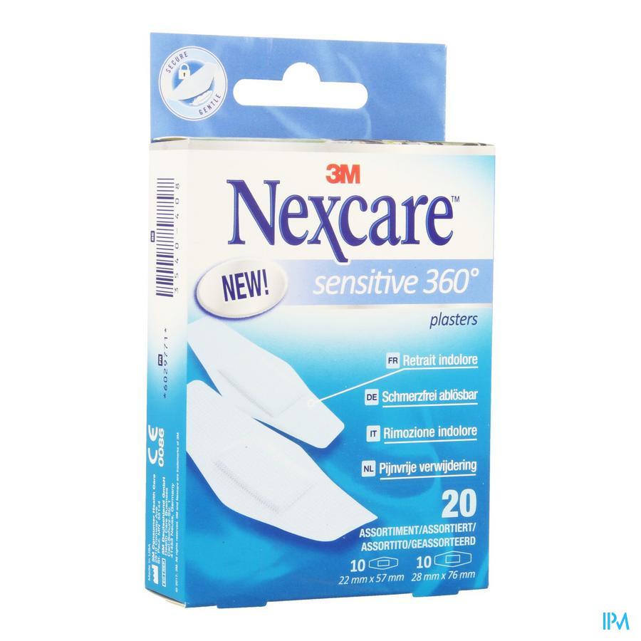 Nexcare 3m Sensitive Skin Assort. 2 Maten 20