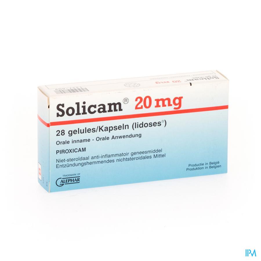 Solicam Caps. 28 X 20mg