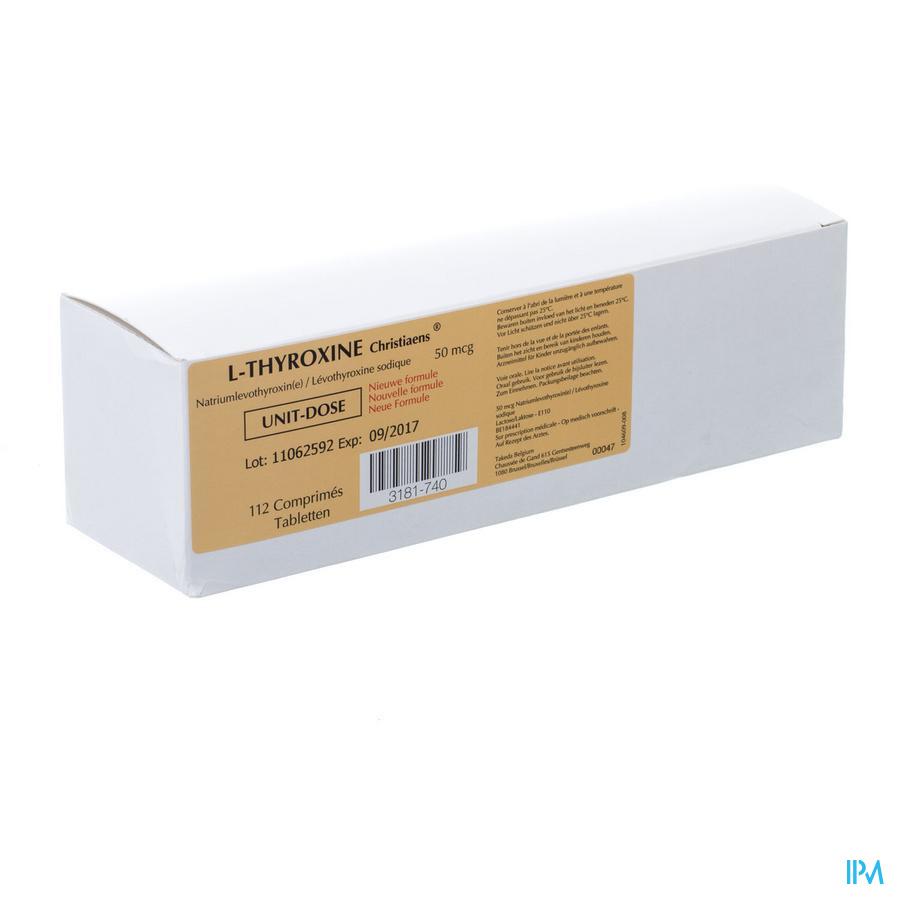 l-thyroxine 112 Tabl 50 Mcg Ud Nm