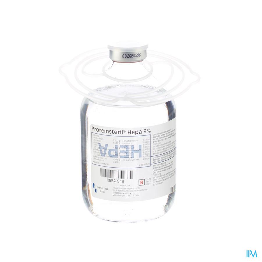 Proteinsteril Hepa 8% 500ml Bouteille En Verre/glazen Fles