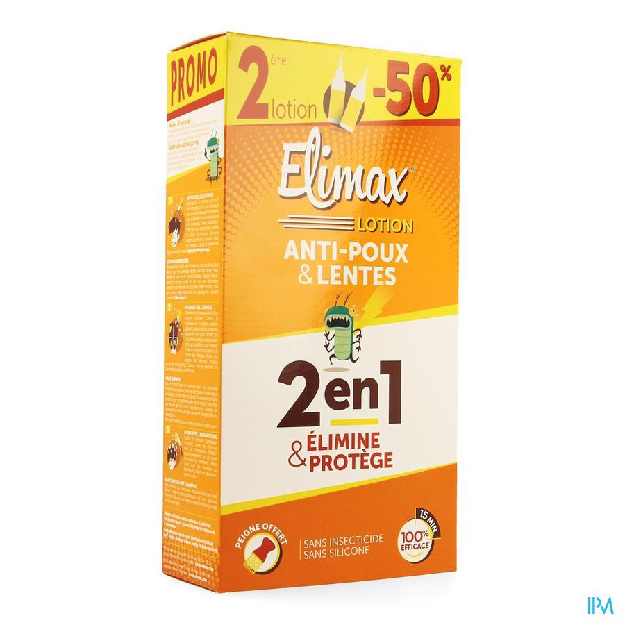 Elimax Lotion A/poux Fl 2x100ml