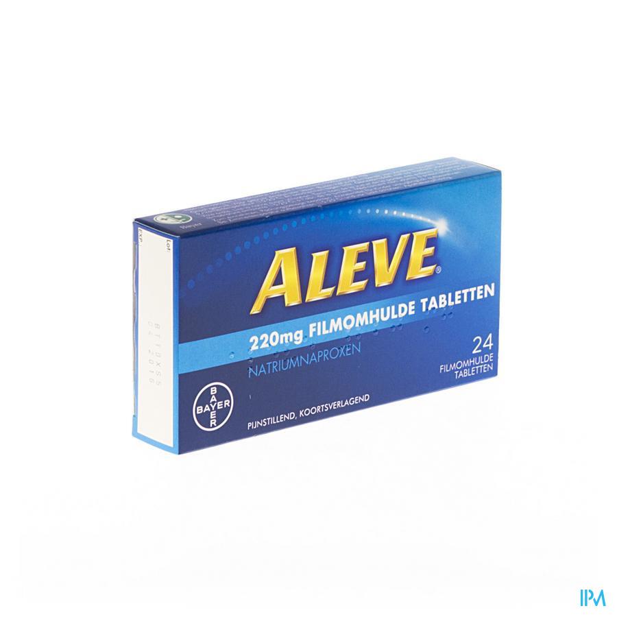 Afbeelding Aleve 24 tabletten.