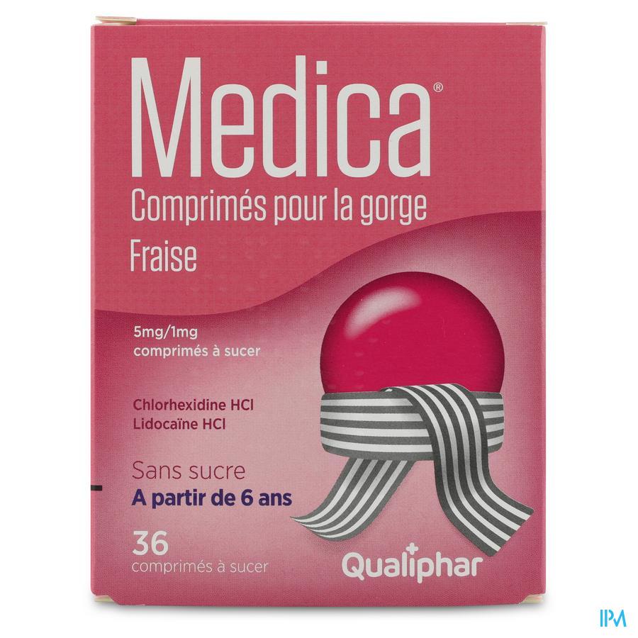 Medica Comprimes Gorge Fraise Comp A Sucer 36
