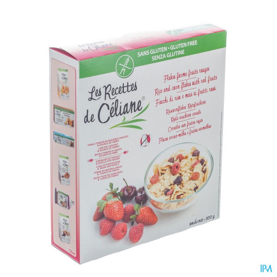 Celiane Rode Vruchten Cereals S/gluten 300g