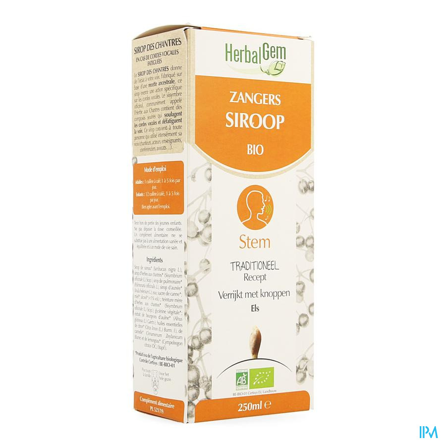 Herbalgem Zangerssiroop 250 ml