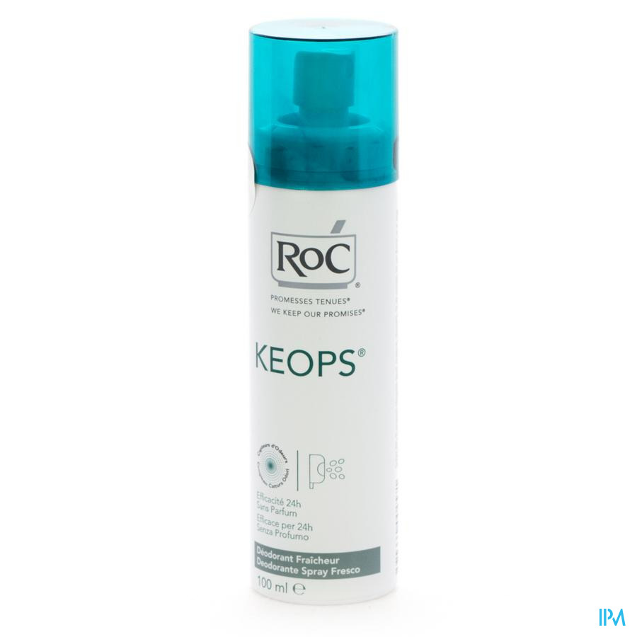 Roc Keops Deo Spray Fraicheurs S/parf Pn 100ml
