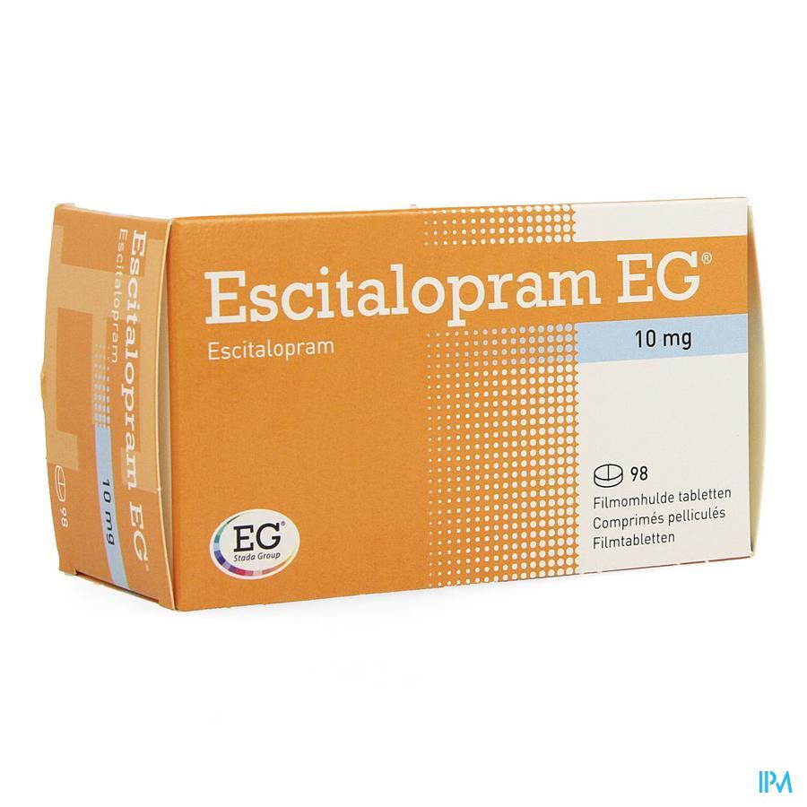 Escitalopram Eg 10mg Filmomh Tabl 98 X 10mg