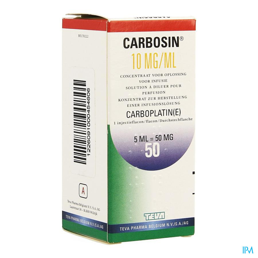Carbosin 50mg Vial Iv 5ml 10mg/ml