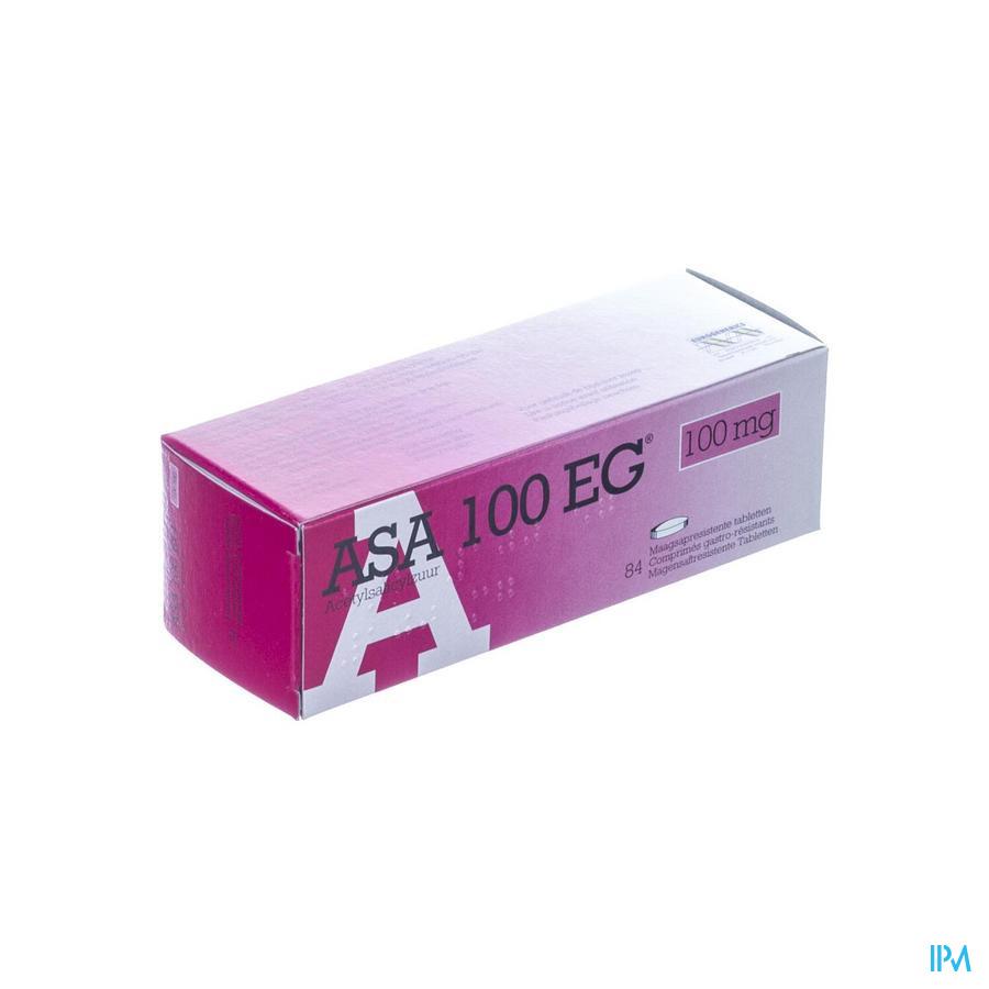 Afbeelding Asa 100mg  EG 84 tabletten.