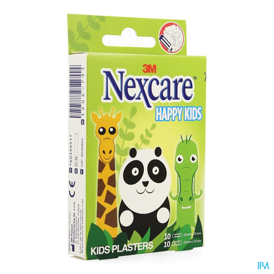 Nexcare 3m Happy Kids Dieren Pleister 20 N0920an
