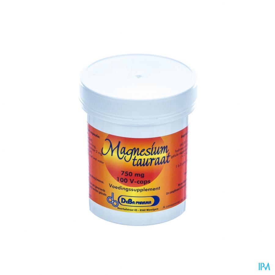 Magnesiumtauraat V-caps 100x750mg Deba