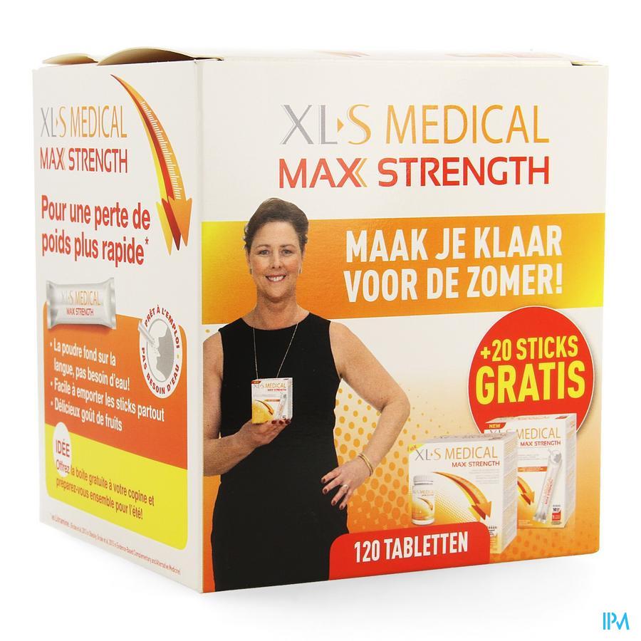 Xls Med. Maximum Strength Comp 120 + Sticks 20