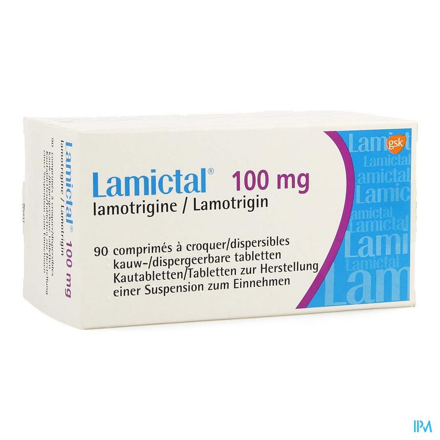 Lamictal Disp Tabl 90 X 100mg