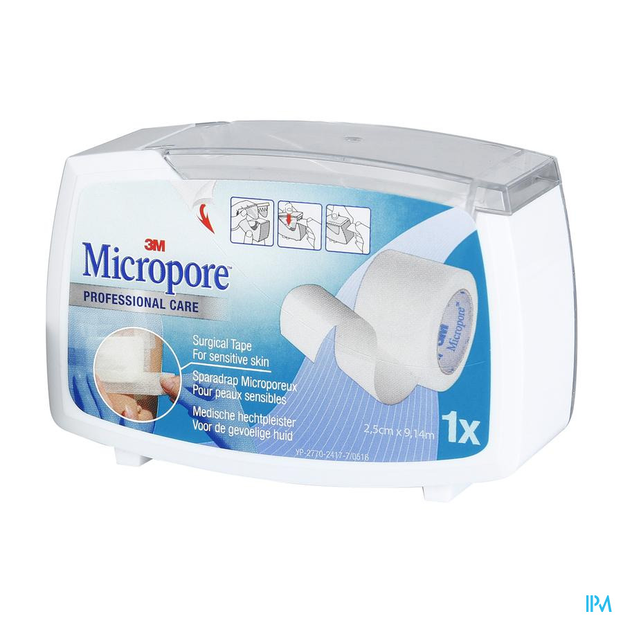 Micropore Surgical Tape Dispenser 2.5 Cm X 915cm