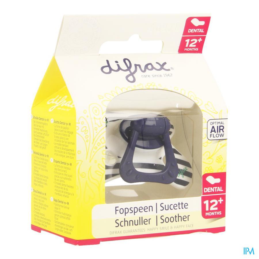 Difrax Sucette Dental Renforcee Boy +12m 346