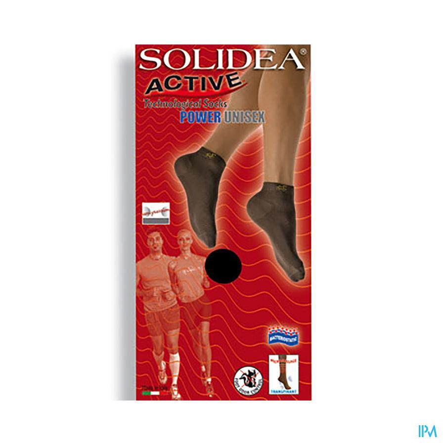 Solidea Enkelsok Active Power Unisex Bianco 1-s