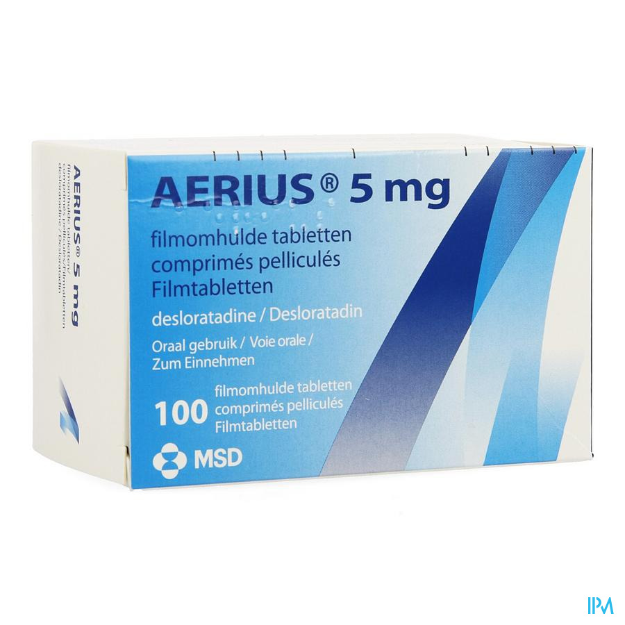 Aerius 5mg Comp Pell 100 X 5mg