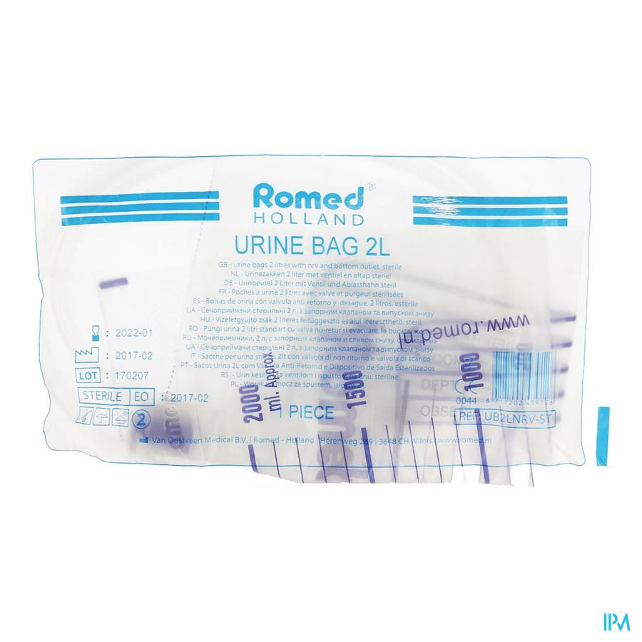 Urinezak Klep + Afvloeiing Romed 2l Pontos