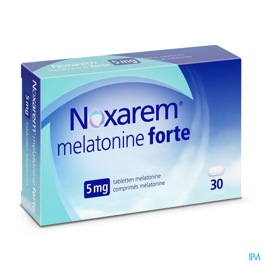 Afbeelding  Noxarem Melatonine Forte 5 mg - 30 Tabletten.