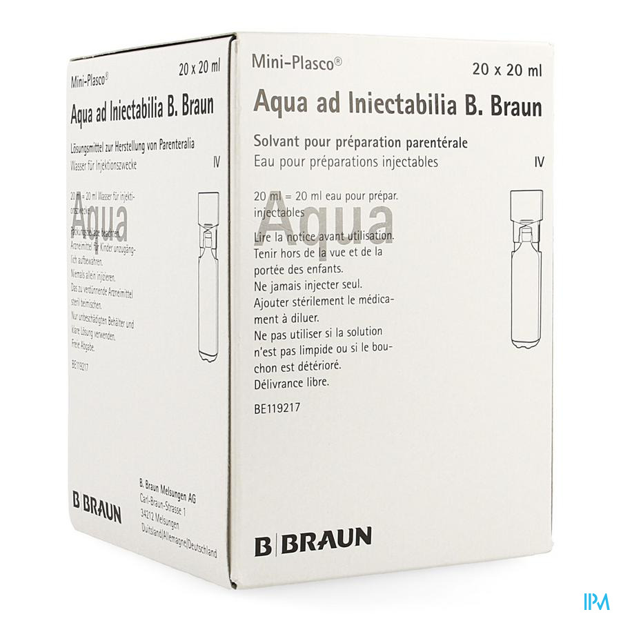 Mini Plasco Aqua Pro Inj Amp20x20ml