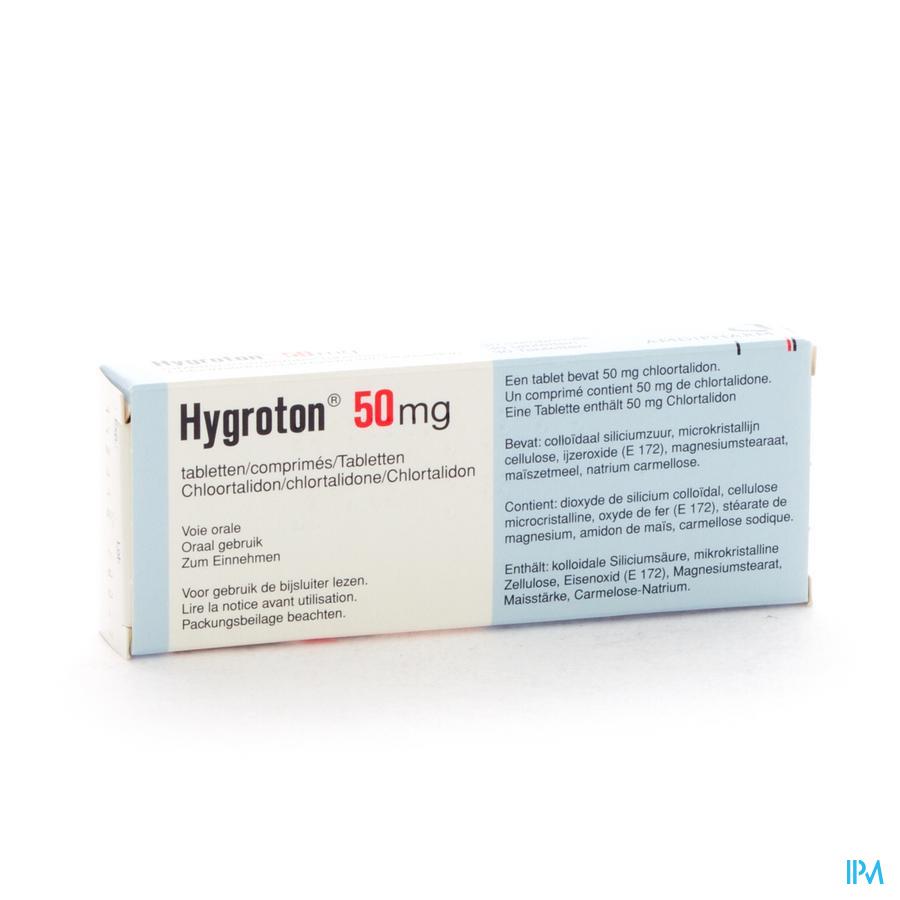 Hygroton 50 Comp 30 X 50mg