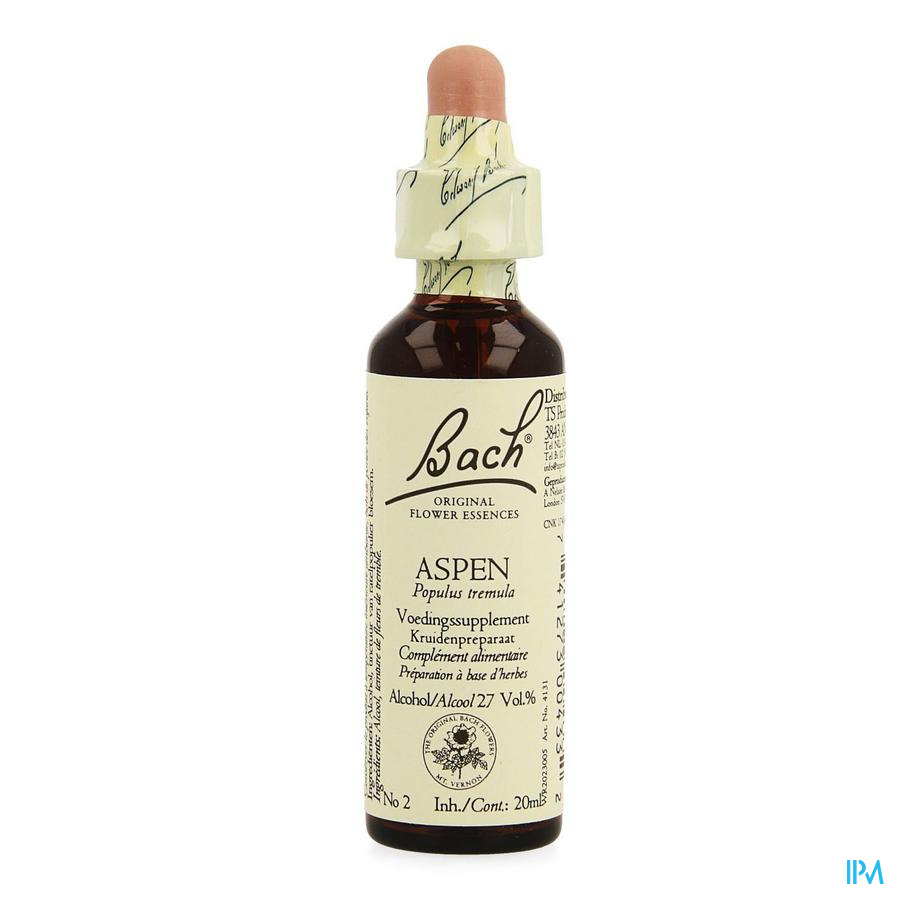 Bach Flower Remedie 02 Aspen 20ml