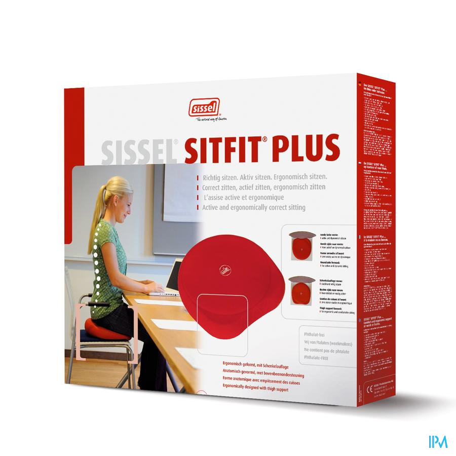 Sissel Sitfit Plus Zitkussen Rood + Pomp