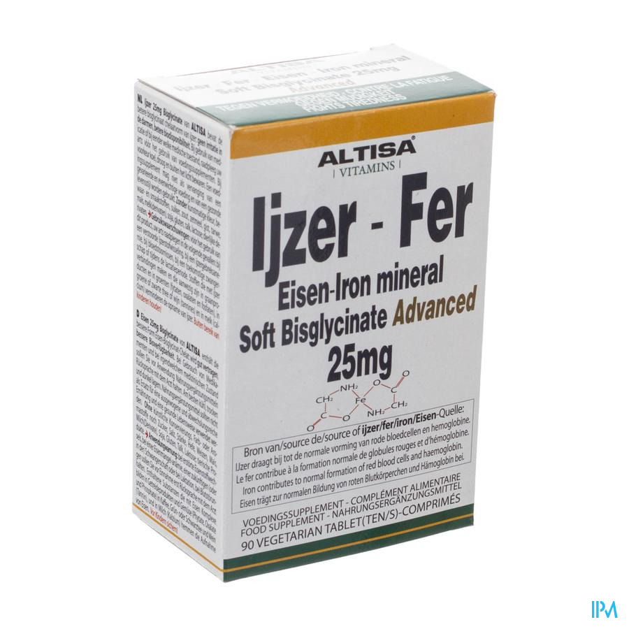 Altisa Fer Bisglycinate 25mg Tabl 90