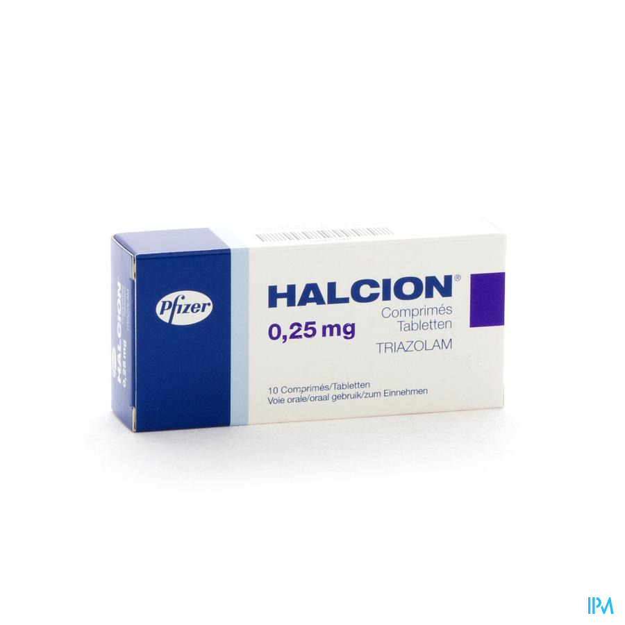 Halcion Tabl 10 X 0,250mg