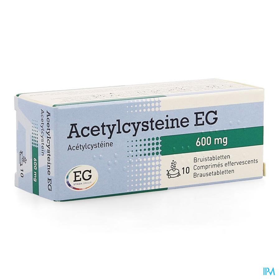 Acetylcysteine Eg 600mg Bruistabl 10x600mg