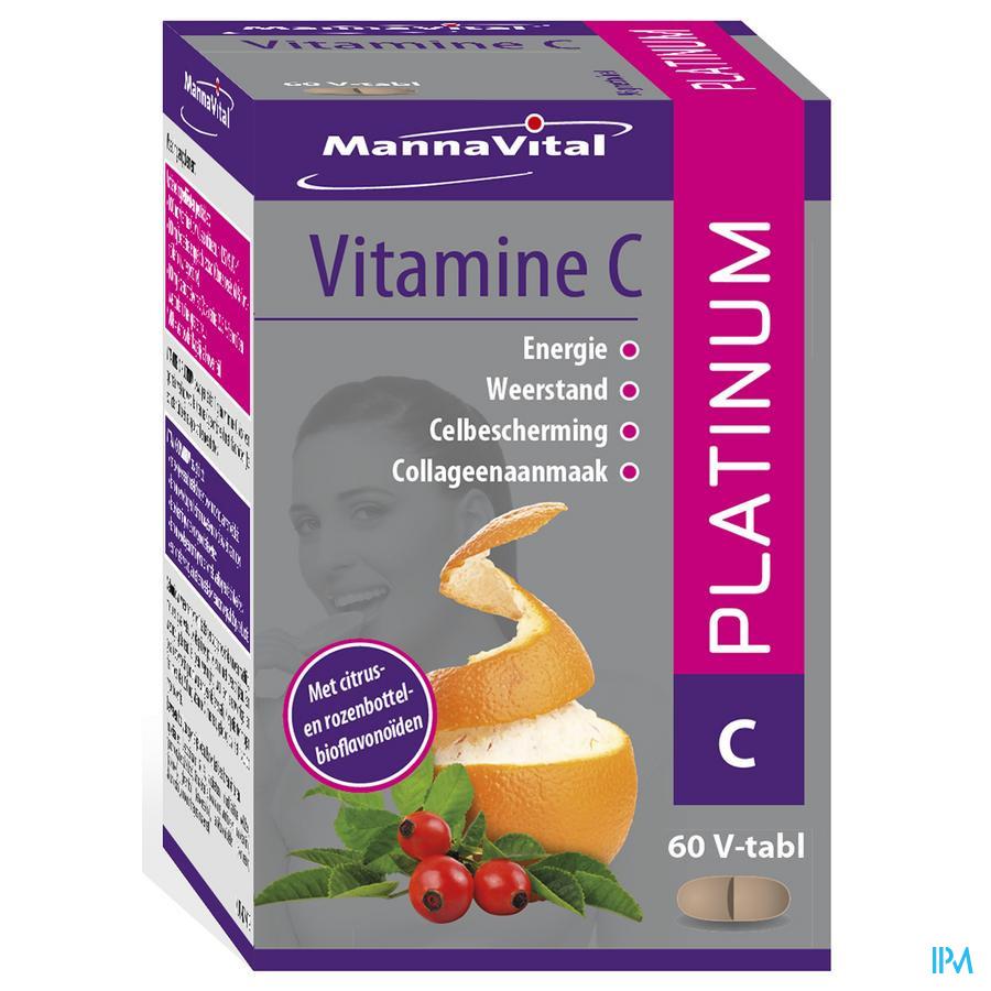 Mannavita Vitamine C Platinum V-comp 60