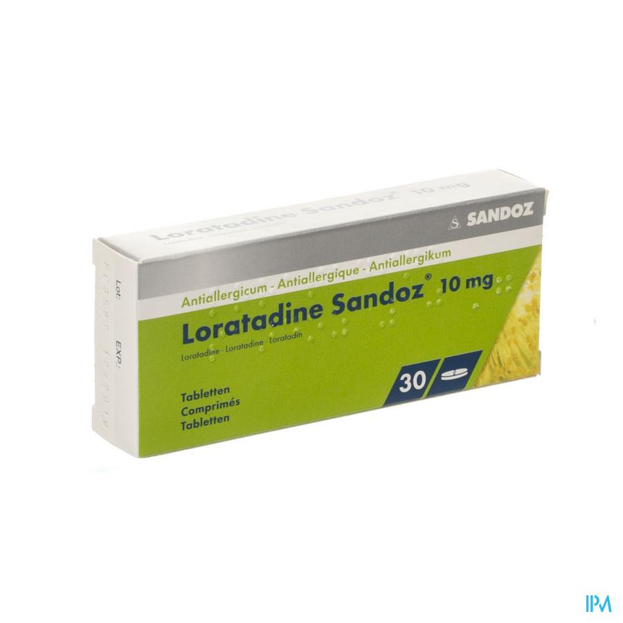 Loratadine Sandoz Comprimes 30 X 10 mg