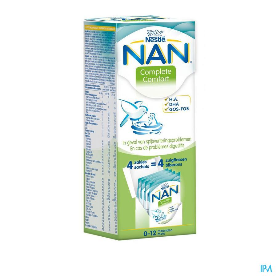 Nan Complete Comfort Zuigelingenmelk Pdr 4x26g