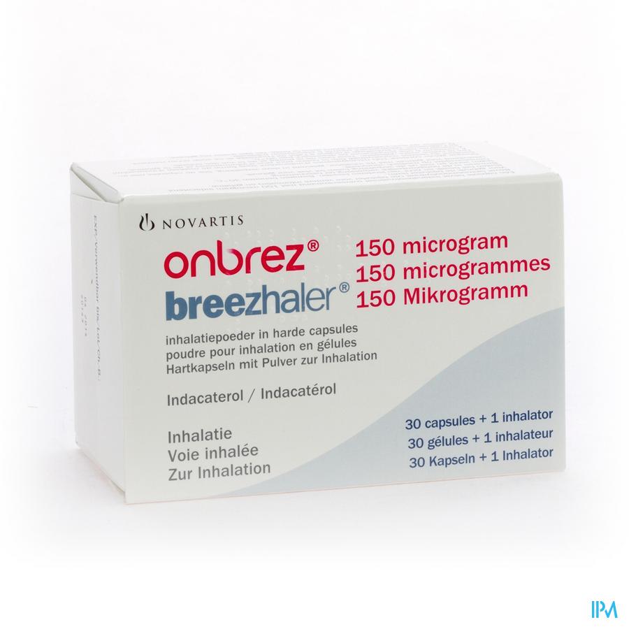Onbrez Breezhaler 150 Mcg Inhal Poeder Caps 30