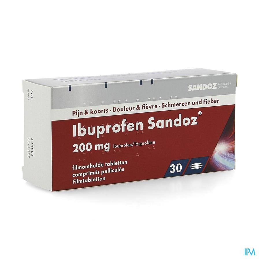 Ibuprofen Sandoz 200 mg Tabletten Pell 30x200 mg