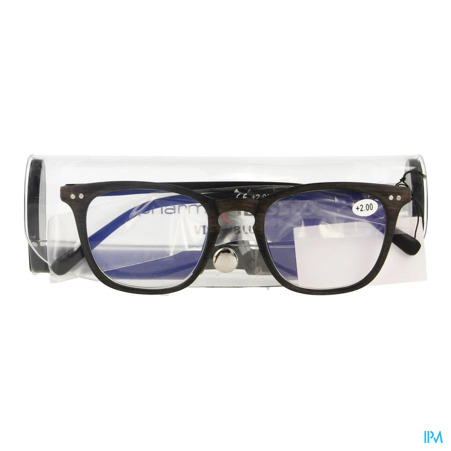 Pharmaglasses Visionblue Pc02 Lun.lect.+2.00 Brown