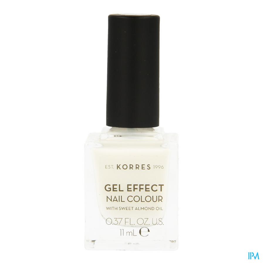 Korres Km Gel Effect Nail 02 Porcelain White 11ml